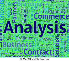 Analysis Word Shows Data Analytics And Analyse