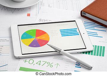 analytic, ビジネス, タブレットの pc