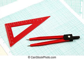 analytic, geometria, attrezzi
