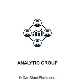 Analytic Group icon. Premium style design from business management icon collection. Pixel perfect Analytic Group icon for web design, apps, software, print usage