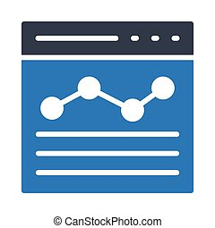 analytic web page glyph color icon