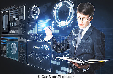 analytics, 未来, 概念