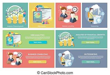 analytics, 相談, 概念, outsourcing, 網
