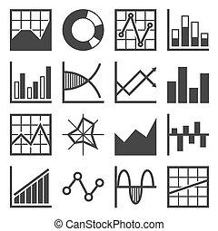 Analytics and Finance Icon Set. Vector