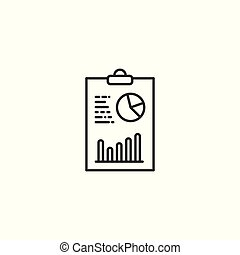 analytics, clipboard, tło, kreska, biały, ikona