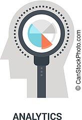 analytics, concept, icône