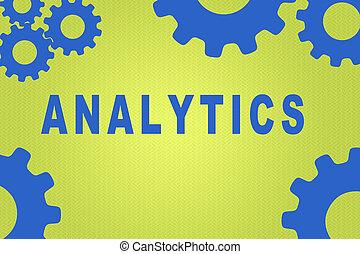 analytics, concept, -, information