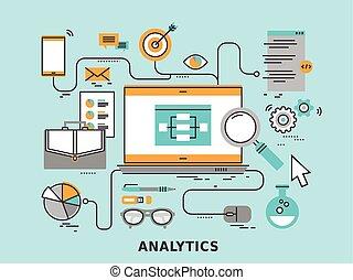 analytics, concepto, datos