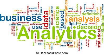 analytics, concepto, plano de fondo