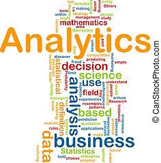 analytics, concetto, fondo
