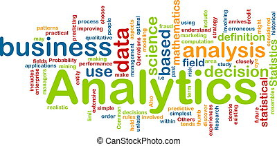 analytics, concetto, fondo