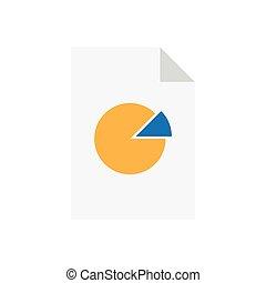 Analytics Data Document with Pie Chart.