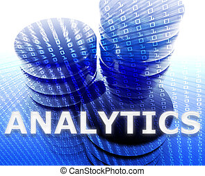 analytics, dati, illustrazione