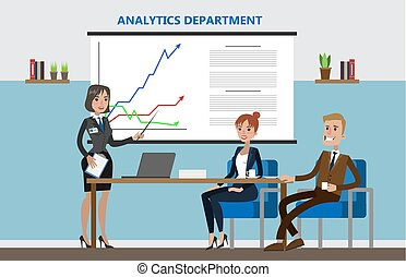 Analytics department office.