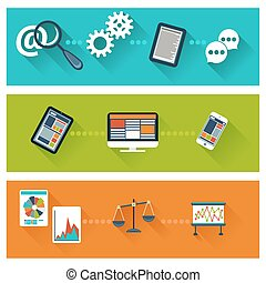 analytics, desenvolvimento, conceito, negócio, teia