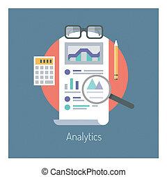 analytics, e, estatísticas, ilustração