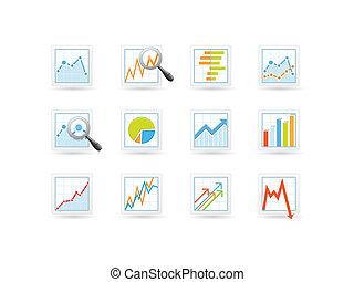 analytics, estadística, iconos