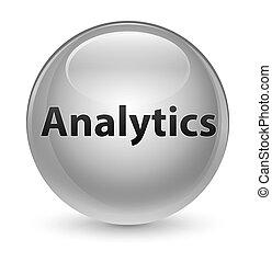 Analytics glassy white round button