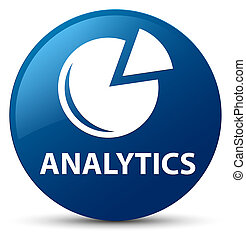Analytics (graph icon) blue round button