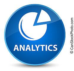 Analytics (graph icon) elegant blue round button
