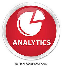 Analytics (graph icon) premium red round button