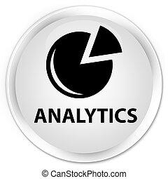 Analytics (graph icon) premium white round button