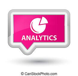 Analytics (graph icon) prime pink banner button