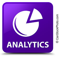 Analytics (graph icon) purple square button