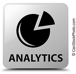 Analytics (graph icon) white square button