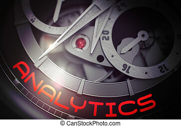Analytics on the Luxury Wrist Watch Mechanism. 3D.