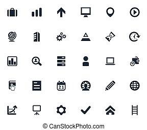 analytics., outro, vetorial, aprovação, apresentação, icons...