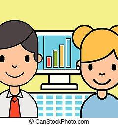 analytics, pessoas negócio