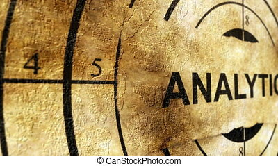 analytics, pojęcie, grunge