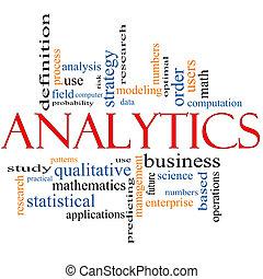 analytics, pojęcie, słowo, chmura