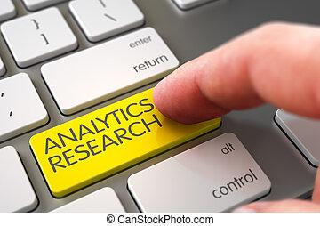 Analytics Research - Modern Keyboard Concept. 3D Illustration.