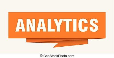 analytics sign. analytics paper origami speech bubble....