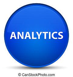 Analytics special blue round button