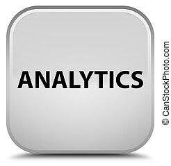 Analytics special white square button