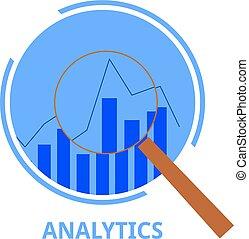 analytics, vecteur, -