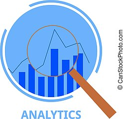 analytics, wektor, -