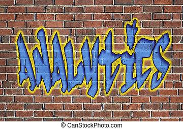 analytics word - as a graffiti