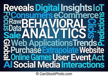 analytics, wort, wolke, behavioral