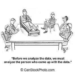 Analyze the data analyst