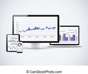 Analyzing financial statistics on the vector computers