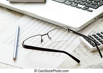 Working, analyzing and doing calculations
