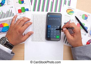 Analyzing statistics with smart phone calculator