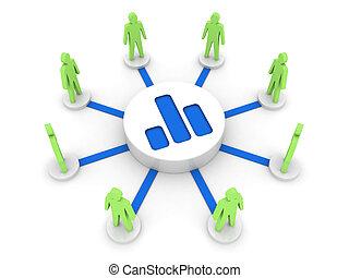 Analyzing team. - Analyzing team. Public statistics. Concept...