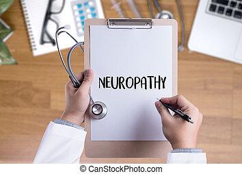 anamnesis., neuropathy, orvosi doktor, megfogalmazás, fogalom