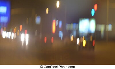 Anamorpfic bokeh city lights