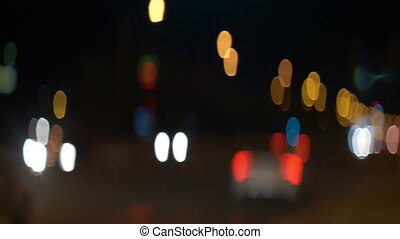 Anamorpfic city lights bokeh